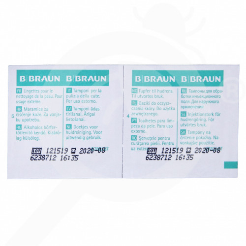 fr b braun desinfectant alcohol pads 100 box - 1, small