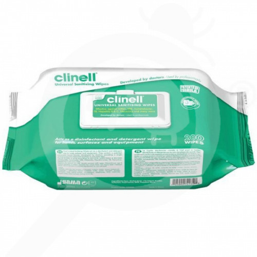 fr gama healthcare desinfectant clinell 4 in 1 200 per bag - 1, small