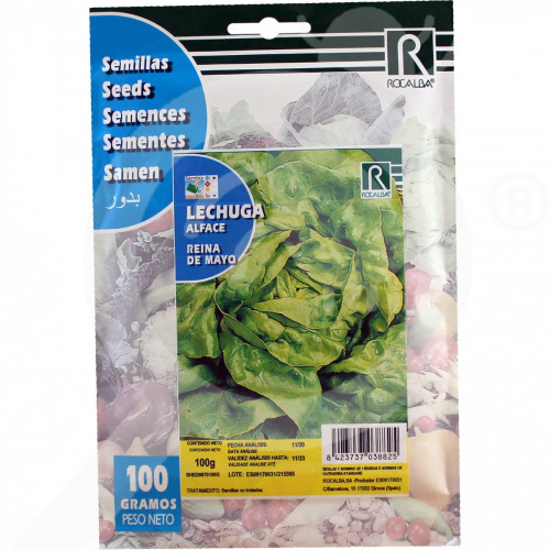 fr rocalba seed green lettuce reina de mayo 100 g - 0, small