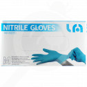 hu lyncmed safety equipment nitrile blue powder free m - 0, small