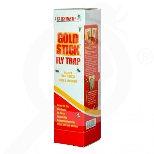hu catchmaster adhesive trap gold stick fly - 1, small