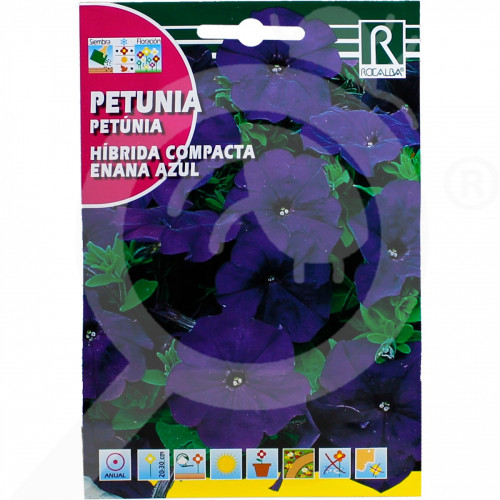 hu rocalba seed petunia hibrida compacta enana azul 0 5 g - 0, small