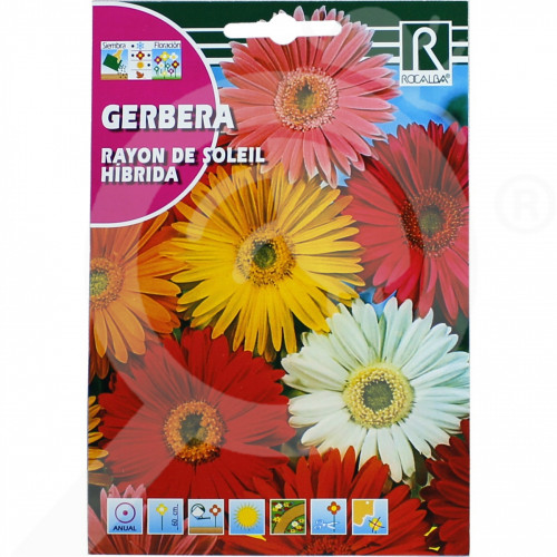 hu rocalba seed gerbera rayon de soleil hibrida 0 1 g - 0, small
