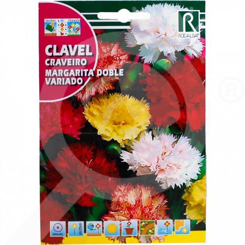 hu rocalba seed carnations margarita doble variado 1 g - 0, small