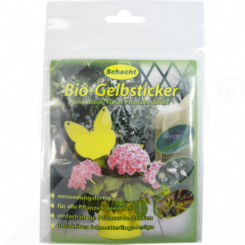 hu schacht adhesive trap interior insect gelbsticker set of 10 - 0, small