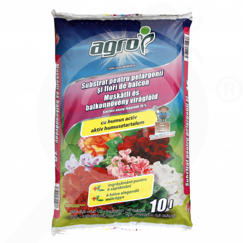 hu agro cs substrate muscat balcony flowers substrate 10 l - 0, small