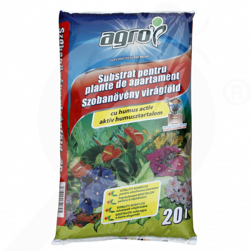 hu agro cs substrate room plants substrate 20 l - 0, small