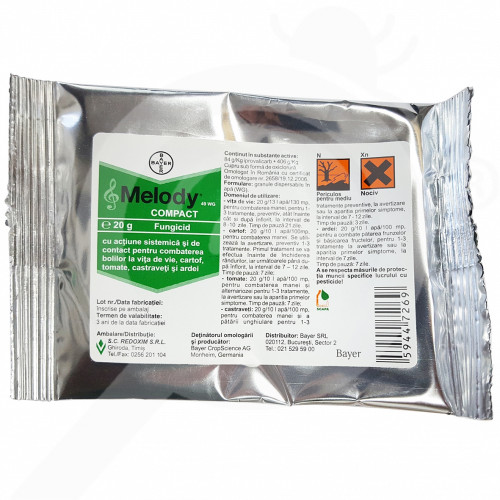 hu bayer fungicide melody compact 49 wg 200 g - 1, small