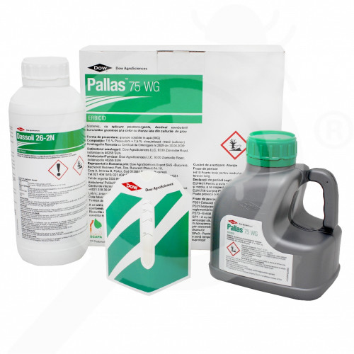 hu dow agro sciences herbicide pallas 75wg 500 g adjuvant 1 l - 1, small