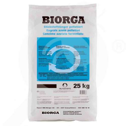 hu hauert fertilizer biorga nitrogen pellet 25 kg - 0, small