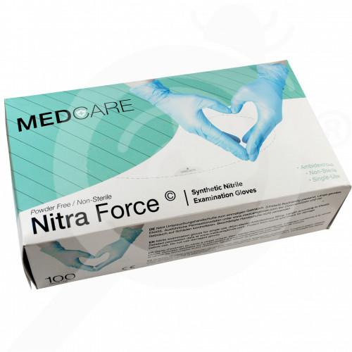 hu lyncmed safety equipment nitrile blue powder free xl - 0, small