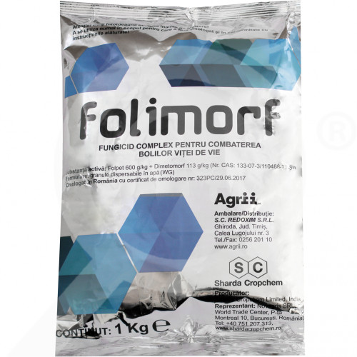 hu sharda cropchem fungicide folimorf wg 1 kg - 1, small