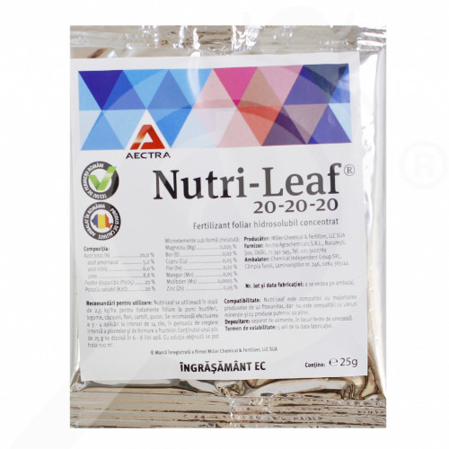 hu miller fertilizer nutri leaf 20 20 20 25 g - 0, small