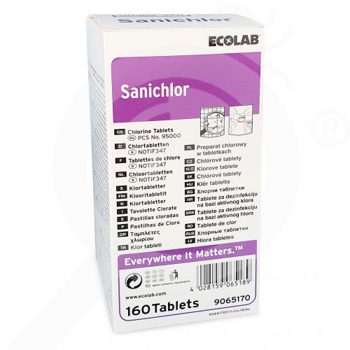 hu ecolab disinfectant sanichlor 160 tablets - 0, small