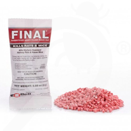 us bell labs rodenticide final place packs case 25 g - 1, small
