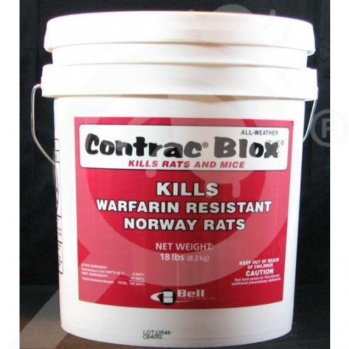 us bell labs rodenticide contrac all weather blox 18 lb - 1, small