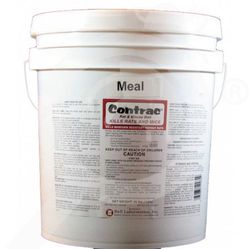 us bell labs rodenticide contrac meal 25 lb - 1, small