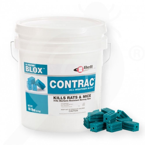 us bell labs rodenticide contrac all weather blox 4 lbs - 1, small