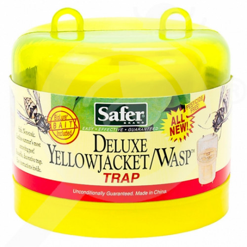 us safer trap deluxe yellow wasp jacket - 3, small