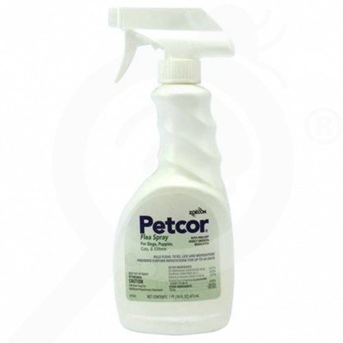us zoecon insecticide petcore flea spray 16 oz - 1, small