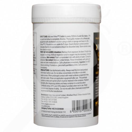 Virkon s disinfectant tablets, 5g makes 500ml, defra approved.