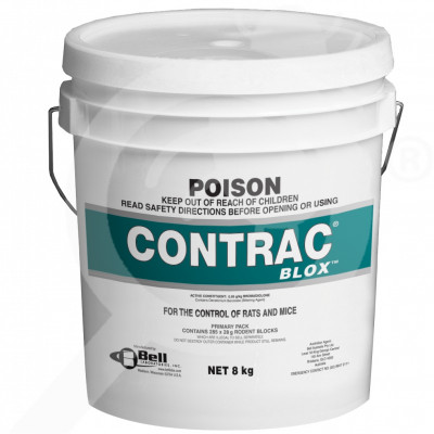 au bell labs rodenticide contrac blox 8 kg - 1