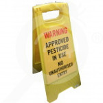 au globe bait station sign safety floor - 1, small