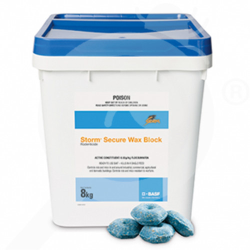 au basf rodenticide storm secure wax blocks 8 kg - 1, small