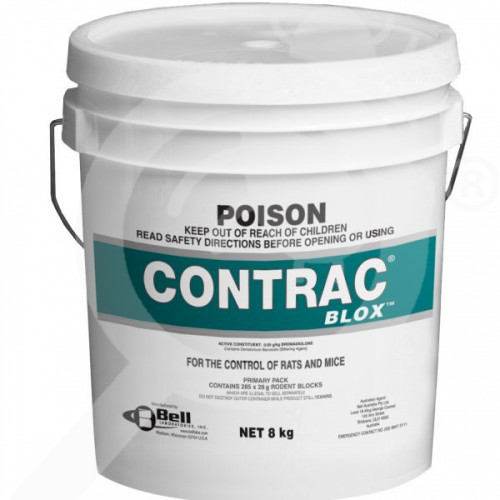 au bell labs rodenticide contrac all weather blox 8 kg - 1, small