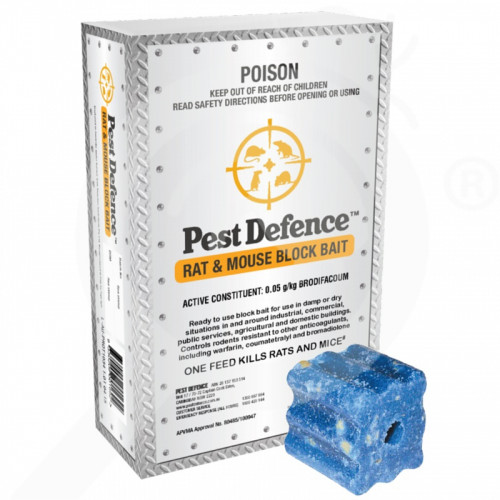 au pest defence rodenticide rat and mouse block bait 210 g - 1, small