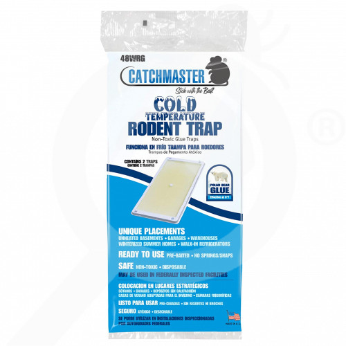 ua catchmaster adhesive trap 48wrg rat 2 p - 1, small
