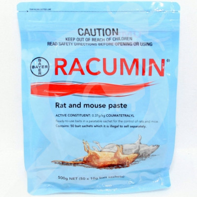 nz bayer rodenticide racumin paste 500 g - 0