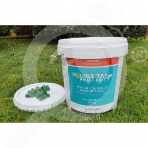 nz connovation rodenticide double tap pellet bait 10 kg - 1, small
