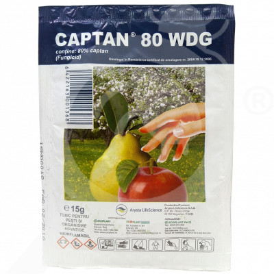 pl arysta lifescience fungicide captan 80 wdg 15 g - 0