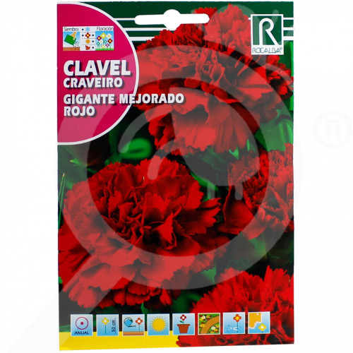 pl rocalba seed carnations gigante mejorado rojo 1 g - 0, small