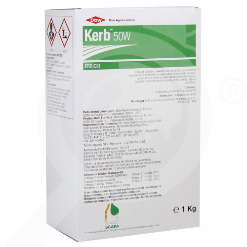 pl dow agro herbicide kerb 50 w 1 kg - 0, small