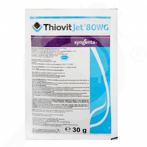 pl syngenta fungicide thiovit jet 80 wg 30 g - 0