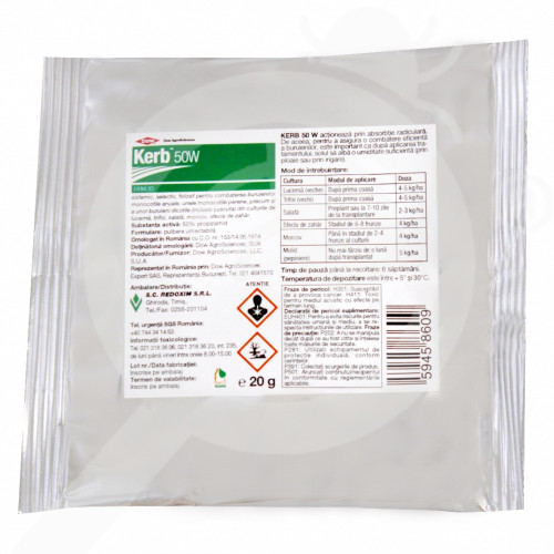 uk dow agro herbicide kerb 50 w 20 g - 0, small