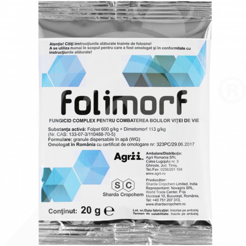 uk sharda cropchem fungicide folimorf wg 20 g - 0, small