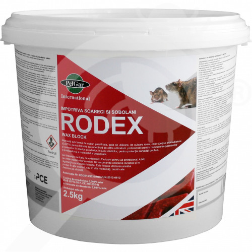 uk pelgar rodenticide rodex wax block 2 5 kg - 0, small