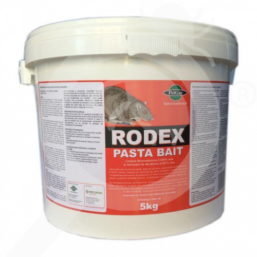 uk pelgar rodenticide rodex pasta bait 5 kg - 0, small