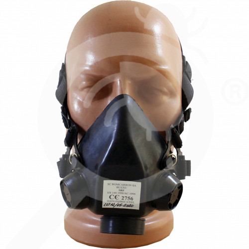 gr romcarbon safety equipment half mask srf - 0, small