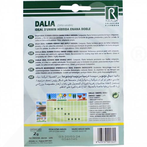 sl rocalba seed dahlia ideal d unwin hibrida enana doble 2 g - 0, small