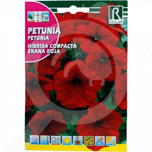 es rocalba seed petunia hibrida compacta enana roja 0 5 g - 0, small