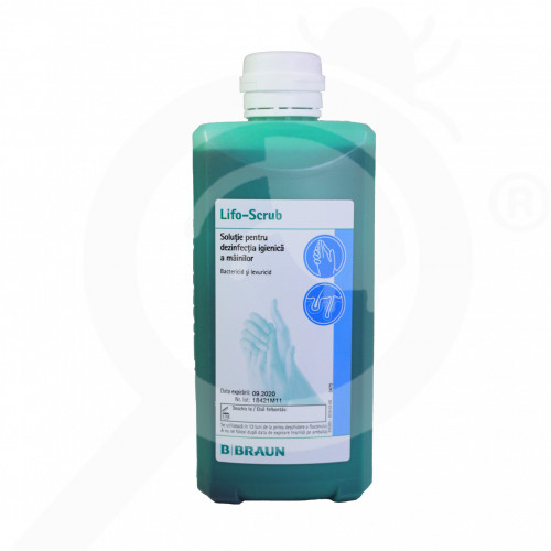es b braun disinfectant lifo scrub 500 ml - 1, small
