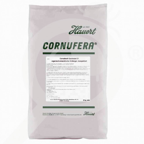 es hauert fertilizer grass cornufera quickstart 21 25 kg - 0, small