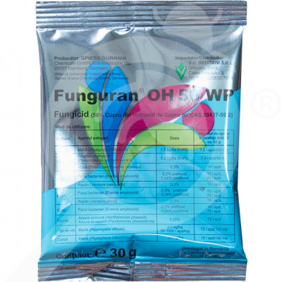 ro spiess urania chemicals fungicid funguran oh 50 wp 30 g - 2