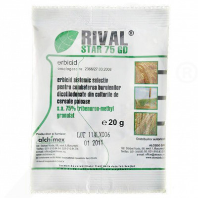 ro alchimex herbicide rival star 75 gd 20 g - 0