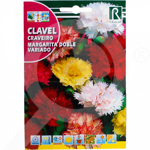 ro rocalba seed carnations margarita doble variado 1 g - 1, small