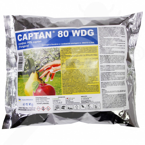 ro arysta lifescience fungicid captan 80 wdg 5 kg - 1, small